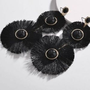 Round Fringe Earrings